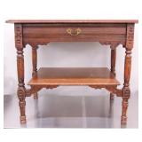 Wooden End Table w/ Drawer