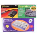 Internet Keyboard & 2 Answering Machines