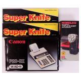 Super Knives, Norelco Shaver, & Adding Machine