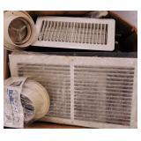 Lot of HVAC Gratings, Diffusers, & Connectors