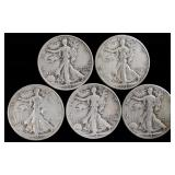 Coins - 5 Walking Liberties