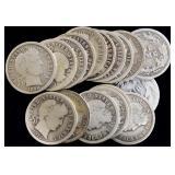 Coins - 17 Barber Dimes