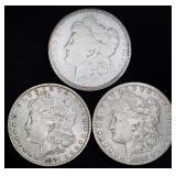 Coins - 3 Peace Dollars