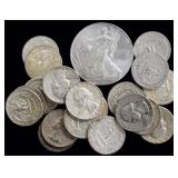 Coins - 20 Washington Quarters & 2014 Silver Eagle
