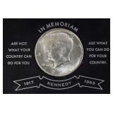 Coins - Washington commemorative & 64 Kénnedy half