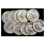 Coins - 10 quarters AU/BU