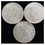 Coins - peace dollars