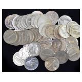 Coins - 65 Mercury Dimes