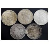 Coins - 5 Silver Dollars