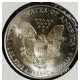 Coins - U.S. silver eagles