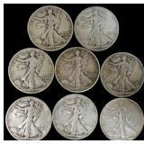 Coins - 8 Walking Liberties