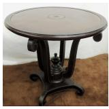 Oval Table w/ Leather Top