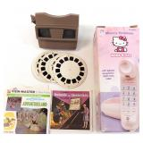 Viewmaster w/ Slides & Hello Kitty Phone