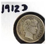 Coin - 1912d Barber Dime
