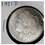 Coin - 1921d Morgan Silver Dollar