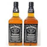 Jack Daniels TN Whiskey (2) (1 L., 86 Pr)