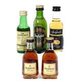 5 Mini-Bottles, Incl. Glenlivet, Glenfiddich