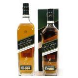 (2) Johnnie Walker Green Label - 1L & 750 ml