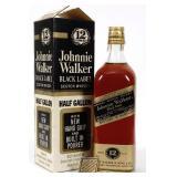 1/2 Gallon Johnnie Walker Black Label Scotch