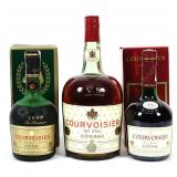 Courvoisier Cognac  - 750 ml (2) and 1/2 Gal. (1)