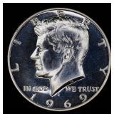 1969-s Proof Kennedy half dollar