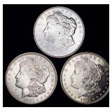 3 Morgan Silver Dollars; 1921-s, 1921-d, 1921