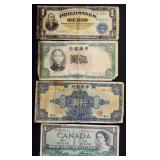 Foreign currency note lot (7)