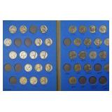 Jefferson nickel collection (in Whitman books)
