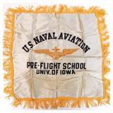 Pillow cover: Navy pre-flight school, U. of Iowa