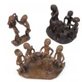 3 small sculptures - African
