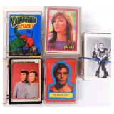 4 Decks of Collectible Cards & Wax Pack Wrappers