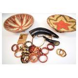 Algerian Tribal Coil Baskets,