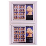 Choice - 2 Framed Marilyn Monroe Stamps & Pictures