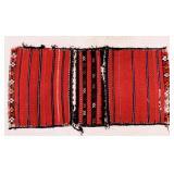 Red Caucasian Rug / Camel Bag