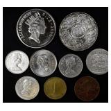 Foreign coin lot (8 coins)