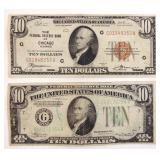 Two $10 Federal Reserve Notes