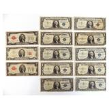 Lot of $2 and $1 Silver Certificates & More