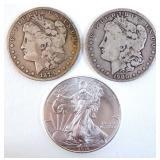 1879s & 1900o Morgans, 2014 Silver Eagle
