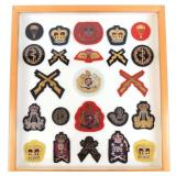 Framed British Embroidered Military Patches