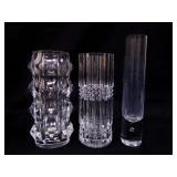 4 Crystal Vases
