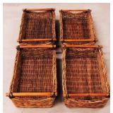 4 Rectangular Baskets