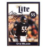 Signed Otis Wilson Miller Lite Card