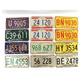 23 Wisconsin and Illinois License Plates