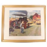 Art - Case Tractor Print by Medcalf