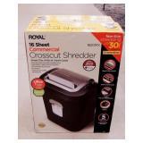 Shredder - Royal 16 Sheet Commercial
