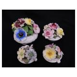 Bone China Flowers, Radnor Flowers, Plate & Cups