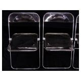 Italy - Anomina 4 Clear Chrome Plexi Chairs