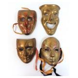 4 Brass Masks