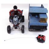 Tonka Dump Truck & Yamaha R/C 4 wheeler