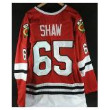 Autographed Andrew Shaw Chicago Blackhawks jersey